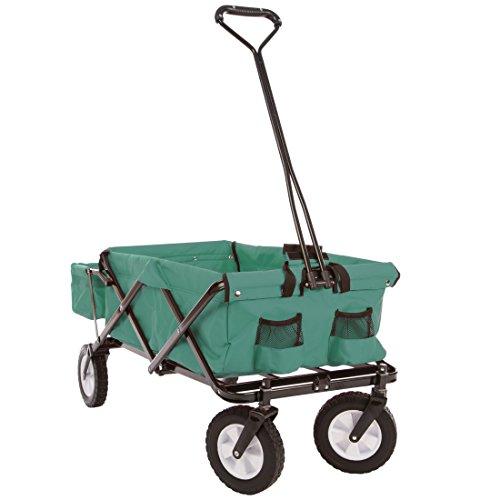 Ultrasport - Carrito Plegable/Carretilla/Carro para Picnic con Funda para el Transporte, Color Verde: Amazon.es: Juguetes y juegos