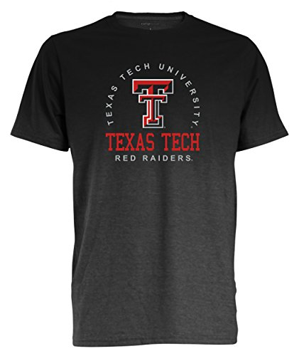 - Camp David NCAA Texas Tech Red Raiders Men's Dip Dyed Heather Tee, Large, Charcoal