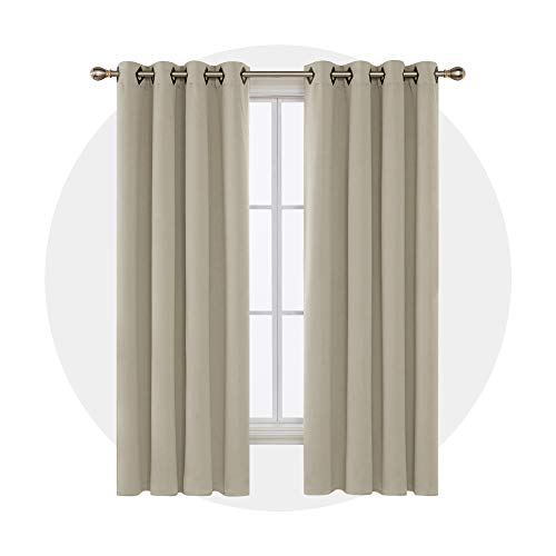Deconovo Solid Grommet Curtains Blackout Panels Thermal Insulated Room Darkening Curtains for Living...
