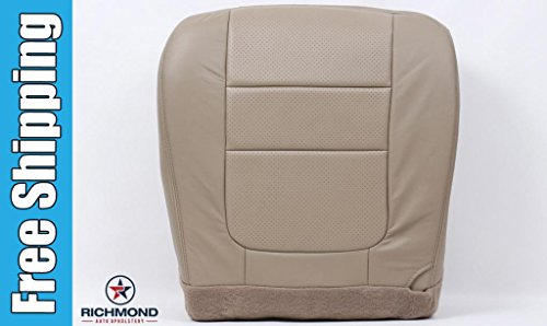 - Richmond Auto Upholstery 2001 Ford F-350 Lariat Super Duty Perforated Driver Side Bottom Replacement Leather Seat Cover, Tan