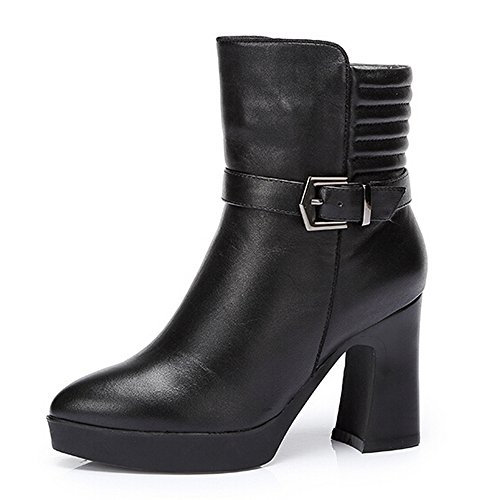 CAMEL Womens High Heel Ankle Boots Color Black Size 36 M EU tuPWM3xA