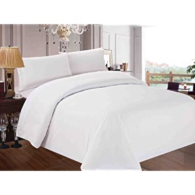 Red Nomad Luxury Duvet & Sham Set, 3 Piece, King/California King, White