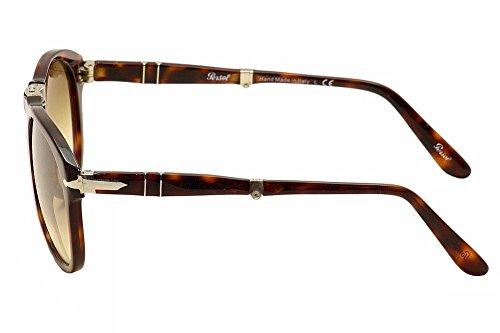 Persol PO0714 Sunglasses Havana/Crystal Brown Gradient ()