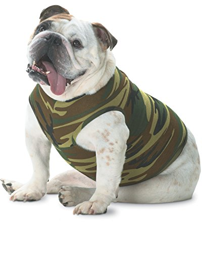 Doggie Skins Baby Rib Tank - Green Woodland - L