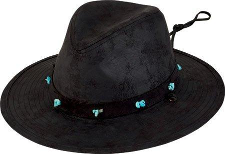 82d3e23d9 San Diego Hat Company Women's Distressed Turquoise Bead Trim Fedora ...
