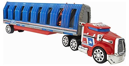 - Hot Wheels Power Drop Transporter - Red/Blue