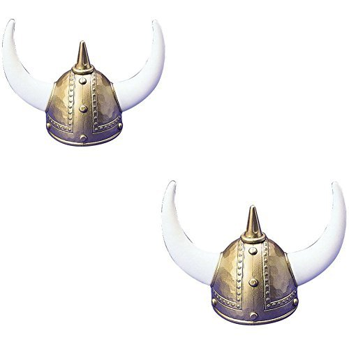 US Toy One Adult Plastic Viking Helmet - 2 Pack ()