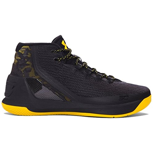 Under Armour Mens Curry 3 Basketball Shoe (12 D(M) US, Black/Taxi/Black)