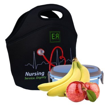 31a3c74a3d40 Nurses Insulated Lunch Tote Bag X-large, X-Thicker Insulation Stylish  Luxury Nurse Gift Idea by EatRite (Black)