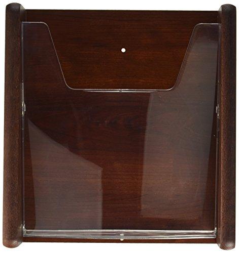 (Wooden Mallet 1-Pocket Stance Wall Display, Mahogany)