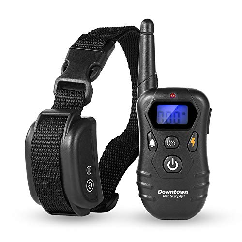 Downtown Pet Supply Dog E Bark Shock Training Collar for Small and Large Dogs - Rechargeable Remote Collar with Vibrate, Tone, and Static - Stop Barking Collar - 330 Yard Range with 100 Levels from Downtown Pet Supply
