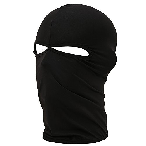 FENTI Lycra Sport Balaclava with Eye Hollow, Motorcycle Ski Cycling Face Mask , Black , One Size -