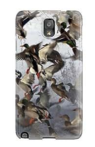 Galaxy Case - Tpu Case Protective For Galaxy Note 3- Mallard Flock by icecream design