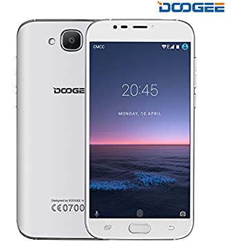 """Unlocked Cell Phones, DOOGEE X9 MINI Dual Sim Unlocked T mobile Phones Android 6.0 With 5.0"""" HD IPS Display - MT6580 Quad Core - 8GB ROM - 5MP Camera - GSM ATT Smartphones No Ads - White"""