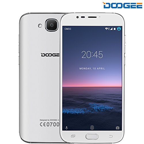"Unlocked Cell Phones, DOOGEE X9 MINI Dual Sim Unlocked T mobile Phones Android 6.0 With 5.0"" HD IPS Display - MT6580 Quad Core - 8GB ROM - 5MP Camera - GSM ATT Smartphones No Ads - White"