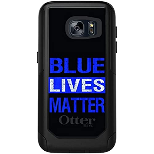 CUSTOM Black OtterBox Commuter Series Case for Samsung Galaxy S7 - Blue Lives Matter Law Enforcement Sales