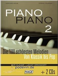 Partituras de piano 2 ligeras, las 100 melodías más bonitas ...