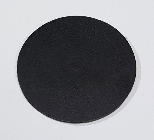 Candle plates aluminium (coaster) black D 12 cm