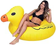 GoPong GoFloats Giant Duck PartyTube Inflatable Raft, Float in Style