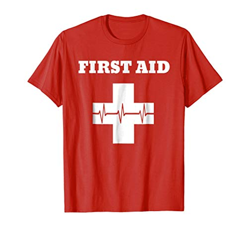 First Aid TShirt | Red Cross Emergency Lifeguard Staff -