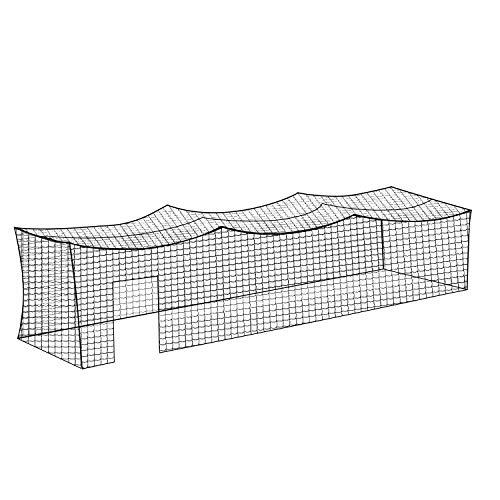Aoneky Polyethylene 8x8x20ft Twisted Knotted Baseball Batting Cage Netting - Small Pro Garage Softball Batting Cage Net