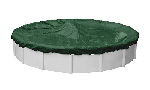 (Pool Mate 3212-4-PM Heavy-Duty Winter Round Above-Ground Pool Cover, 12-ft, Grass Green)