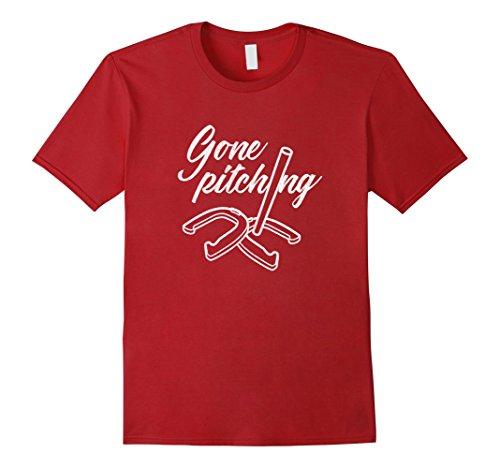 Mens Horseshoes Gone Pitching horseshoeing t-shirt XL Cra...