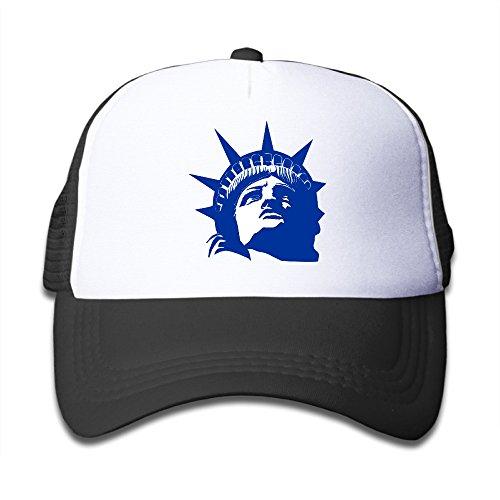 Gsyful Youth Children Girl Boy Kids Custom Geek American The Statue Of Liberty Unisex Half Mesh Adjustable Baseball Cap Hat Snapback Black