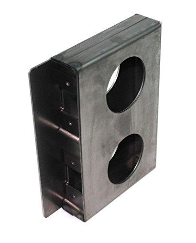 Box Gate Lock (Gate Lockbox Double Hole Weldable Steel 6 3/4