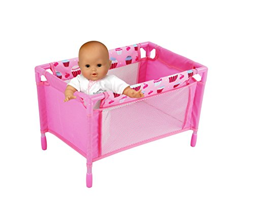 Precious Doll Playpen, Pack N' Play, Pink with Cute Cupcake Print, Fits up to 16
