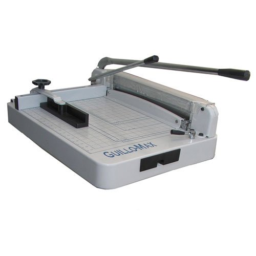 Tamerica GUILLO-MAX Heavy-Duty Stack Manual Power Paper Cutter, 360 sheets or 1-1/2'' thick copy paper cutting capacity, 17'' cutting length, Capable of smoothly cutting up to 360 sheets of printer paper at a time by GuilloMax