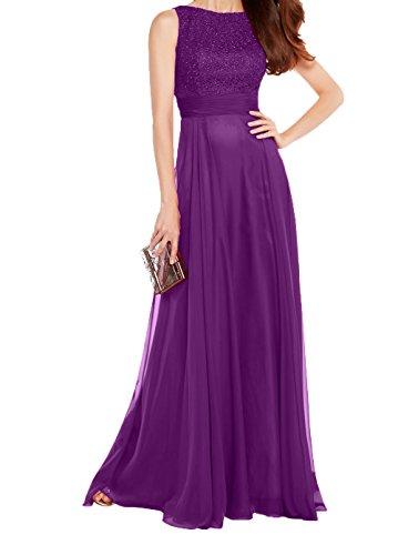 Spitze Partykleider Ballkleider Abendkleider Linie Violett Promkleider Rot Neu Brautmutterkleider Damen A Charmant Chiffon Langes 2018 EwqgZEp