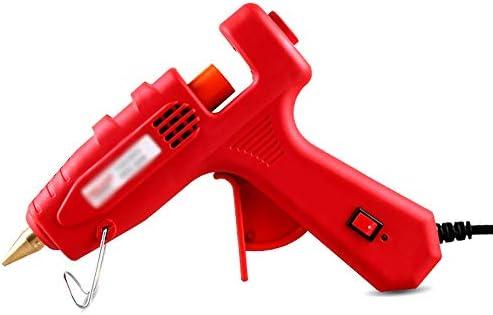 Xing zhe ホットメルト接着剤銃-60 / 80 / 100W、接着剤銃セット、50個の接着剤棒付き、DIY小型工学高温スプレーガン子供の大人の創造的な手、芸術の創造、家の速い修理(赤) 贈り物 (Color : B)