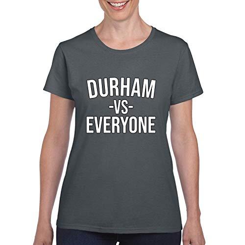 Durham Vs Everyone City Pride Womens Graphic T-Shirt, Charcoal, Medium -