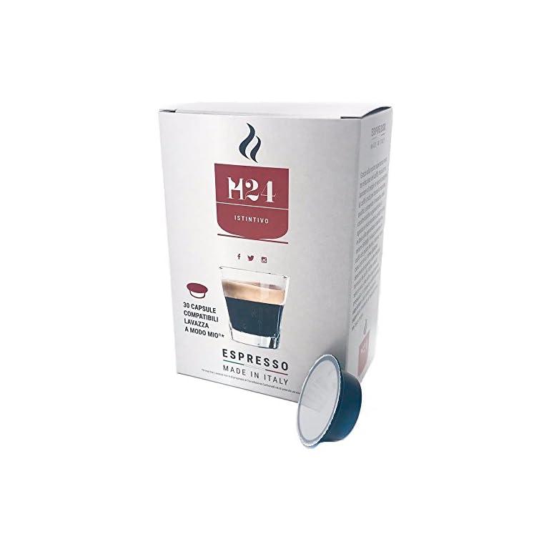 Cápsulas compatibles Lavazza a modo mio – Caffè H24 de Caffè H24 (120)