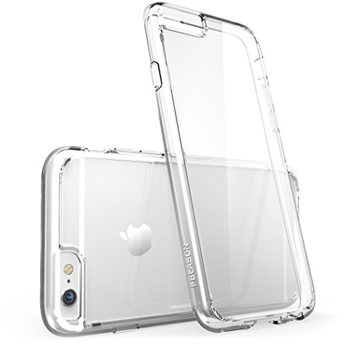 Price comparison product image iPhone 6s Plus Case, [Scratch Resistant] i-Blason Clear Halo Series Also Fit Apple iPhone 6 Plus Case 5.5 Inch Hybrid Bumper Cover (Clear)