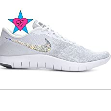 33b99f425a9b Amazon.com  Custom Crystal Glitter White Air Huarache Run Ultra ...