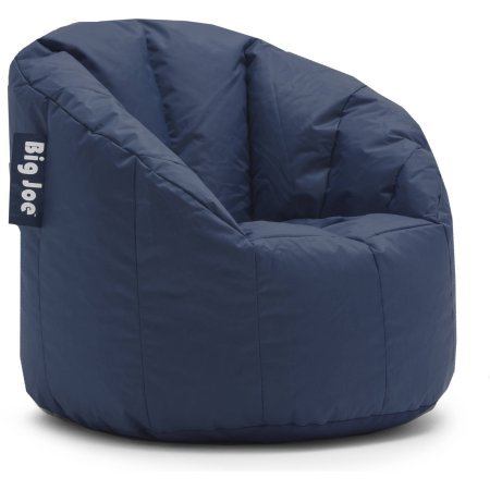 Big Joe Ultimate Comfort Milano Bean Bag Chair with Ultimax Beans in Great for Any Room in Multiple Colors (Navy) (Navy) (Navy Bean Bag Chair)