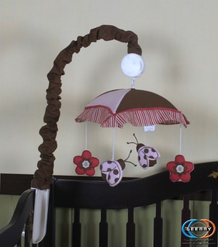 Ladybug Musical Mobile (GEENNY Musical Mobile, Boutique Ladybug Flower)