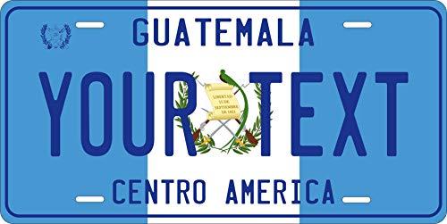 PhotoZoneGa Guatemala Flag Personalized Custom Novelty Tag Vehicle Car Auto Motorcycle Moped Bike Bicycle License Plate