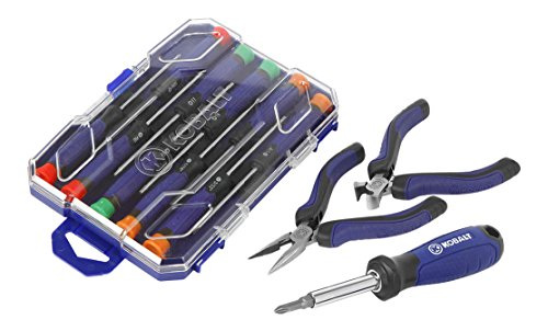 kobalt 11 piece screwdriver set with 2 mini pliers pliers automotive parts. Black Bedroom Furniture Sets. Home Design Ideas