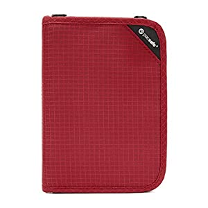 PacSafe RFIDsafe V150 Anti-Theft RFID Blocking Compact Organiser, Goji Berry, One Size