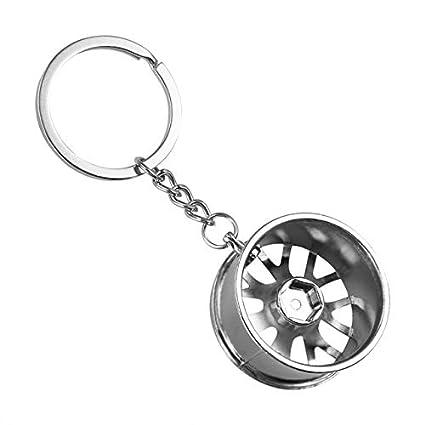 5aa33f7f0b5 Key Rings ALLOMN Car Keychain Wheel Tire Styling Creative Mini Car Key Ring  Auto Chain Keyring