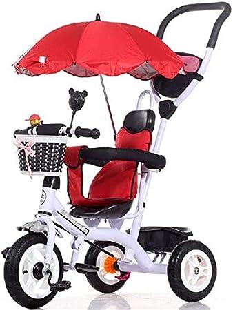 FEE-ZC Bicicleta Plegable Universal para niños Triciclo Sun Canopy de 1-5 años de Bicicleta