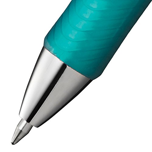 Pentel EnerGel RTX Retractable Liquid Gel Pen Metal Tip, 12 Pack, 0.7mm, Medium Line, Turquoise Blue (BL77-S3) Photo #4