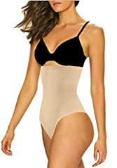 THIS IS THE ORIGINAL SHAPERQUEEN-102!GET A SLIMMER WAIST AND LOOK SEXY!EXCLUSIVE SEXY THONG DESIGN - Full torso extra firm compression with exclusive light boning system improves posture and shapes the waist to enhance ones appearance under c...