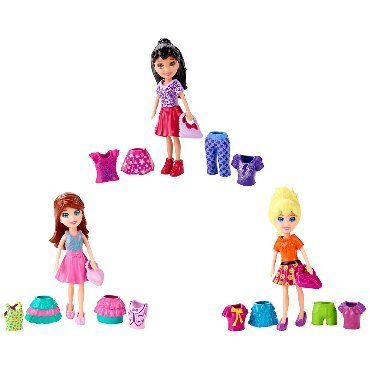 POLLY POCKET (# CBW79)- 1 doll with clothes set and bag