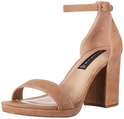 STEVEN by Steve Madden Women's VINO Heeled Sandal, Nude Suede, 10 M US