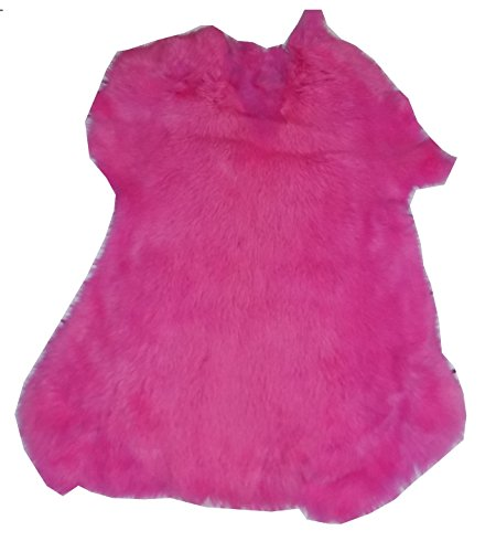 Dyed Tanned Rabbit Fur Hide - 10