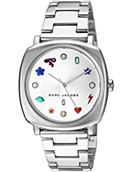 Marc Jacobs Womens Mandy Quartz Stainless Steel Casual Watch, Color:Silver-Toned (Model: MJ3548)